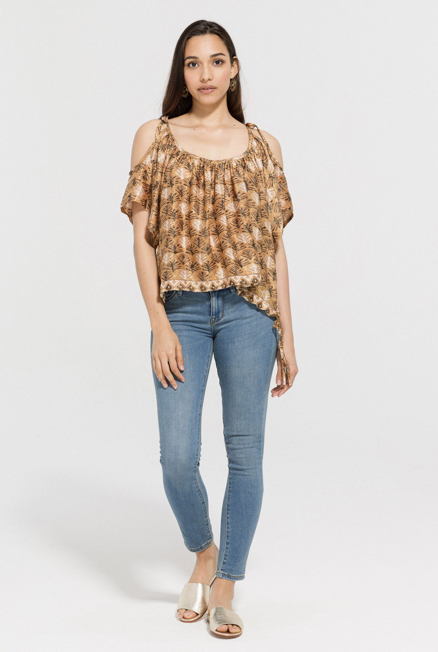 Hot and Cold Shoulder Top