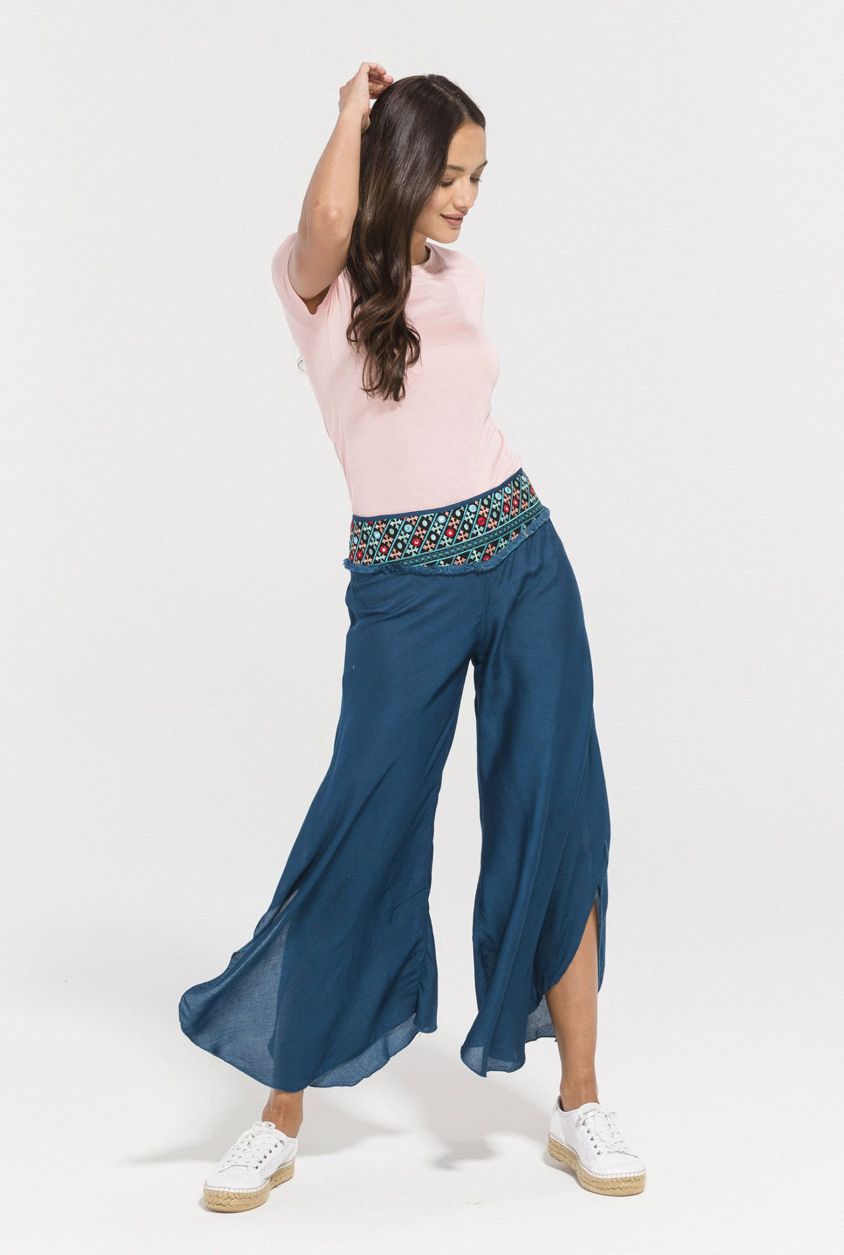 Jade Embroidered Pants